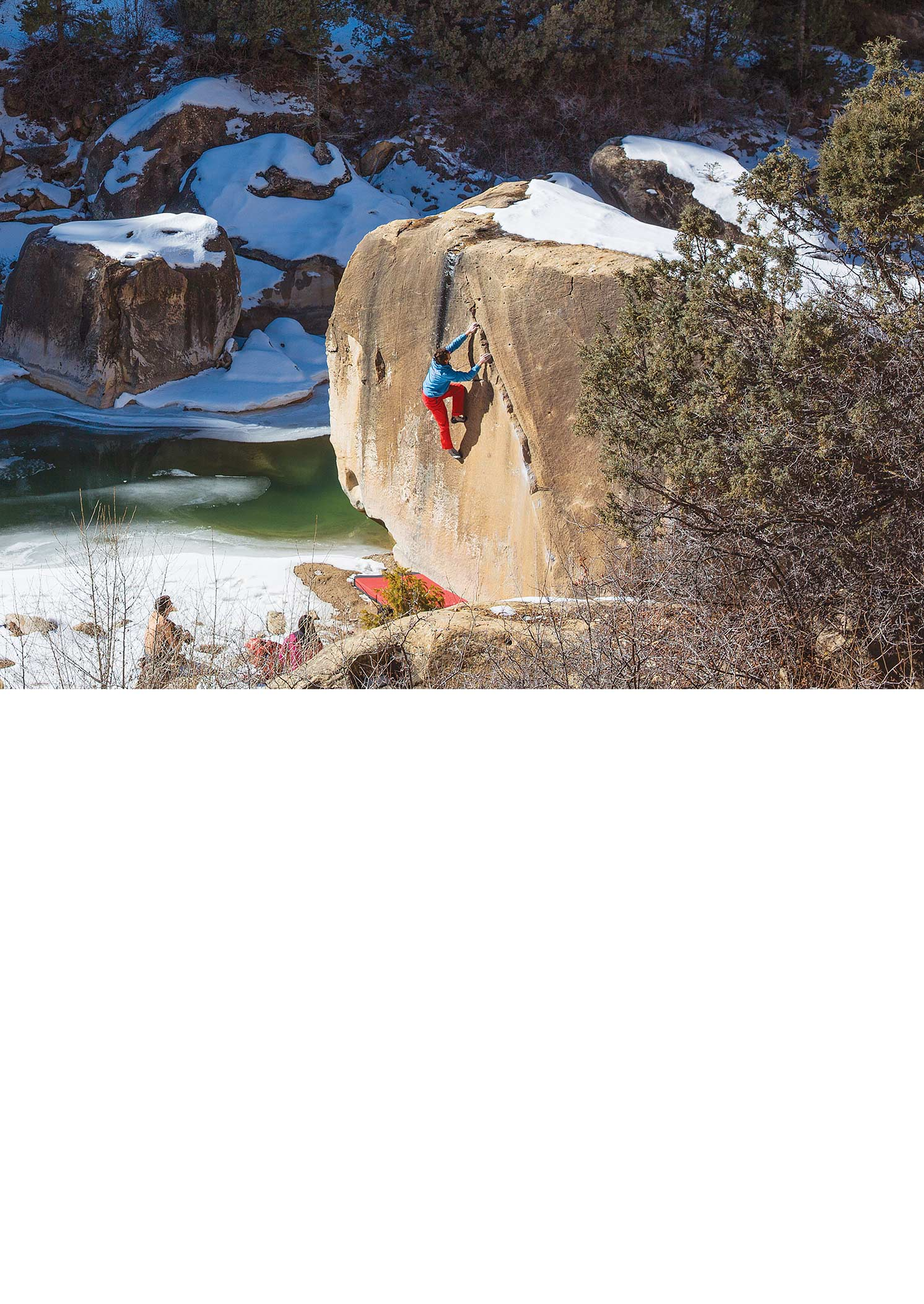 Sonnie Trotter likes his Joe's with a bit of frosting on top. Joe's Valley, Utah. ANDREW BURR