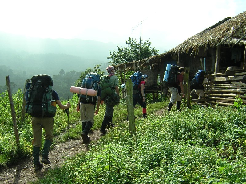 hiking_into_karen_village