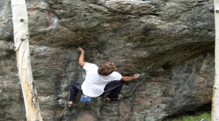 Lynn Hill on a Bouldering Excursion to Redcliff