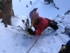 Zoe Hart Climbs Early Season Ice