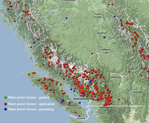 BC Hydro Map