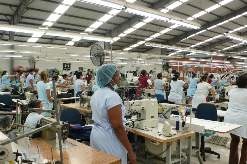 Afternoon exercises at our Colombian factory