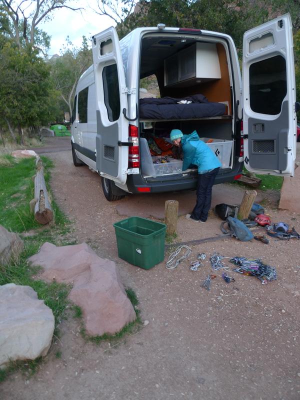 Zion campsite