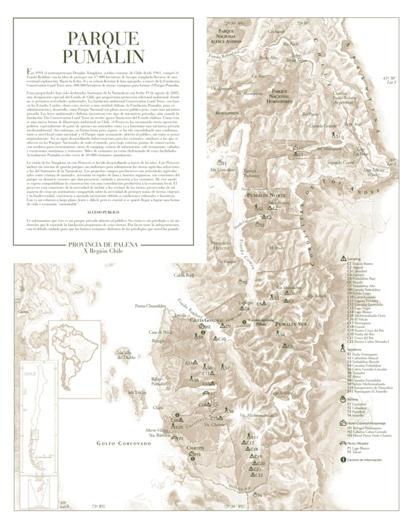 Mapa Pumalin