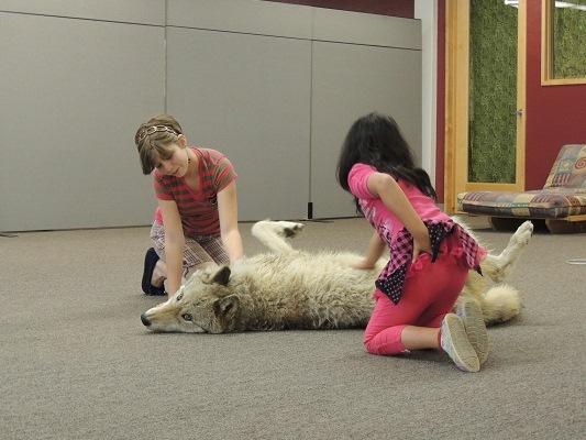 Danny Boy being pet by Jasmine (Glenda's daughter) & Cyril's daughter
