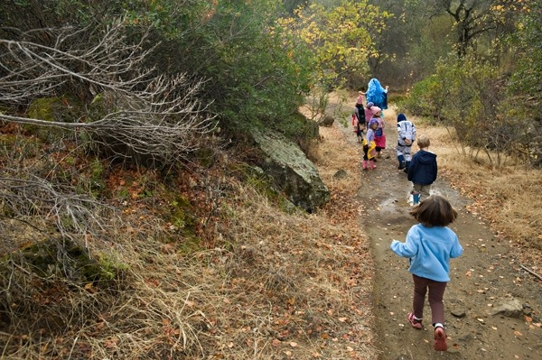 Kids on trail berryessa