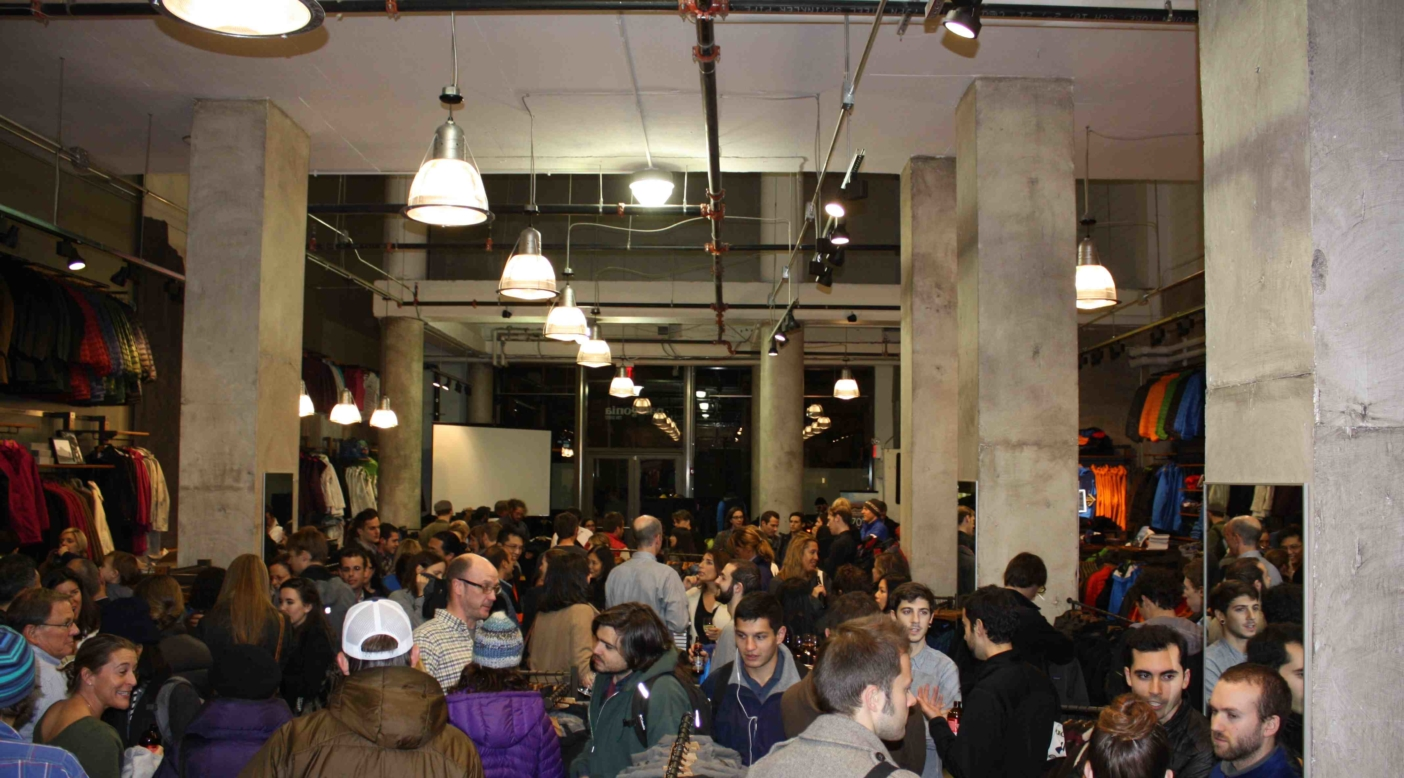The crowd gathers at opening night of the Tin Shed on Broadway. All photos: Anthony Garcia