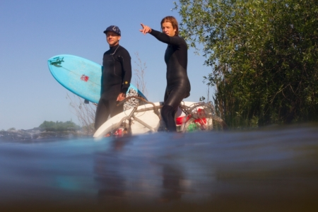 River Surfing on the Saint Lawrence