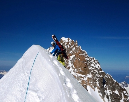 A Steep Ski Traverse of the Mont Blanc Range from East to West with Laurent Bibollet