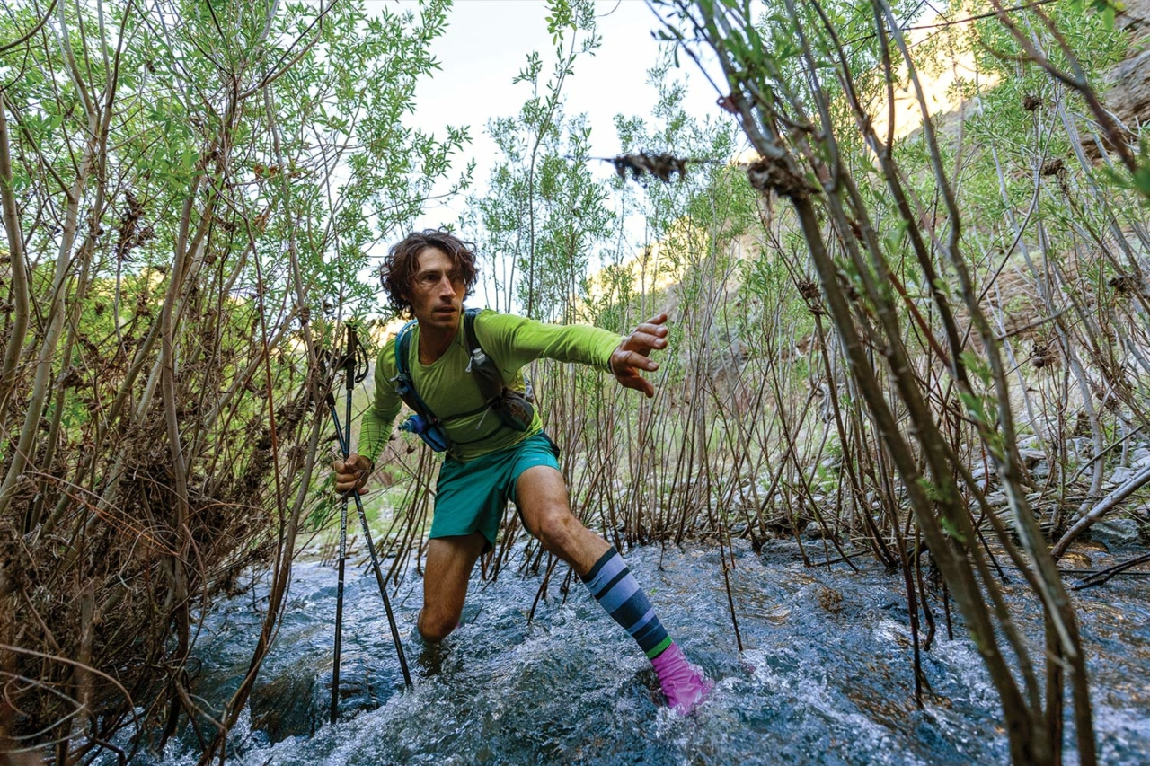We'd grown used to the incessant willow bashing, and what we saw around the river bend stopped us in our tracks. Here, Jesse hits repeat early on Day 1 in the Little Owyhee River. Photo: Fredrik Marmsater