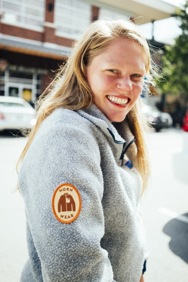 Ali commandeered her Dad's original Synchilla fleece, fixed it and made it her own.