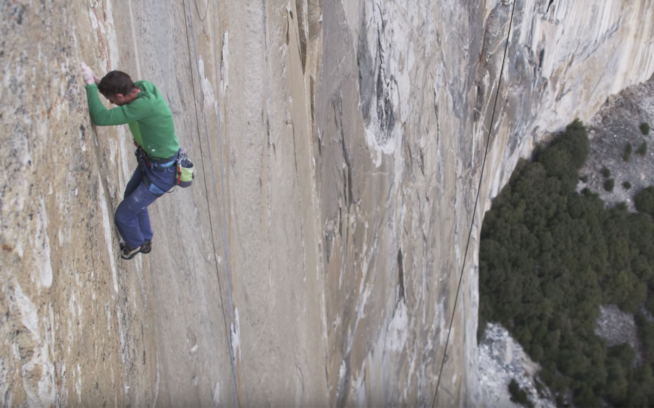 Watch Tommy Caldwell Climb Pitch 15 (5.14c) on The Dawn Wall