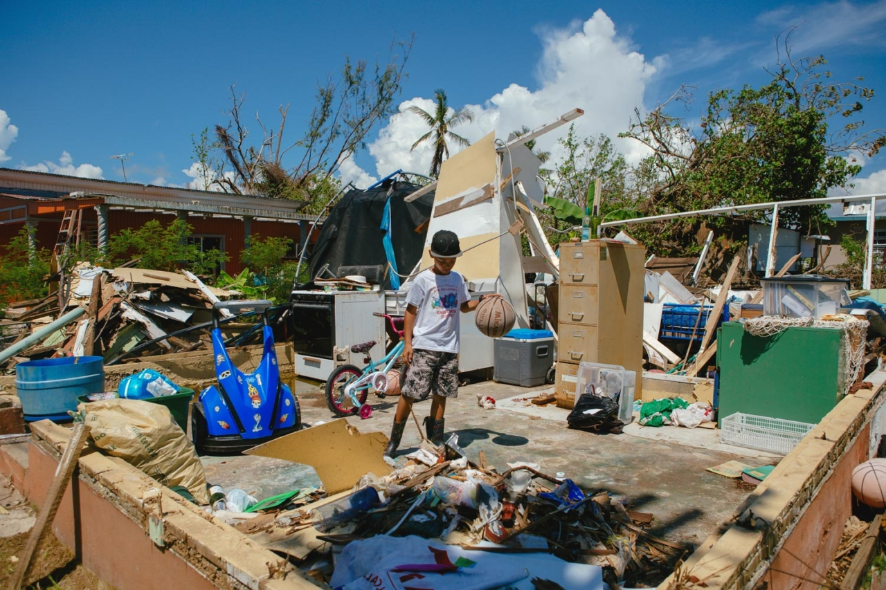 The realities of Maria's aftermath have impacted many and left them without a roof over their heads. Optimism may be the only answer for a stronger and better Puerto Rico in the future. Salinas, Puerto Rico. Photo: Ethan Lovell