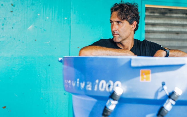 From small to a large scale, we learn along the way. Otto Flores builds a cistern that can supply a large number of people in the community. Yabucoa, Puerto Rico. Photo: Ethan Lovell