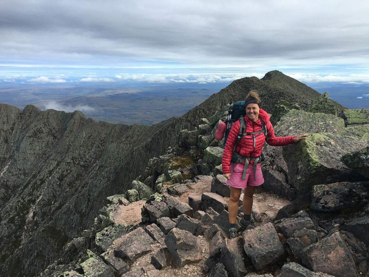 """I summited Mount Katahdin six months to the day of the beginning of my 2,189.1-mile thru-hike of the Appalachian Trail. Life is short and the trail is truly a place to live as your best self and to grow."" Photo: Laura Johnston Collection"