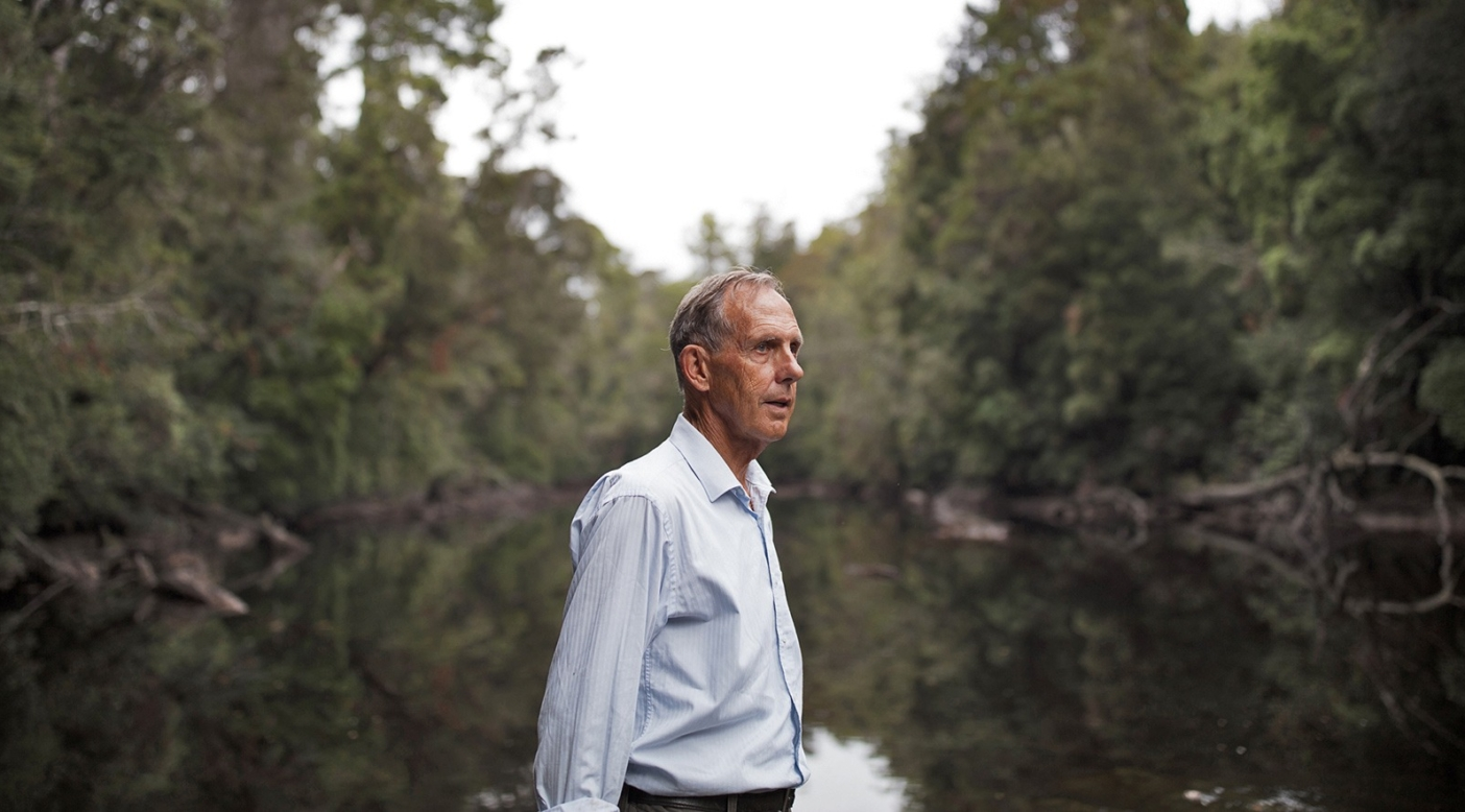 Bob Brown is the founder of the Australian Green Party. He and his foundation have been fighting for decades to protect takayna / Tarkine. Photo: Krystle Wright