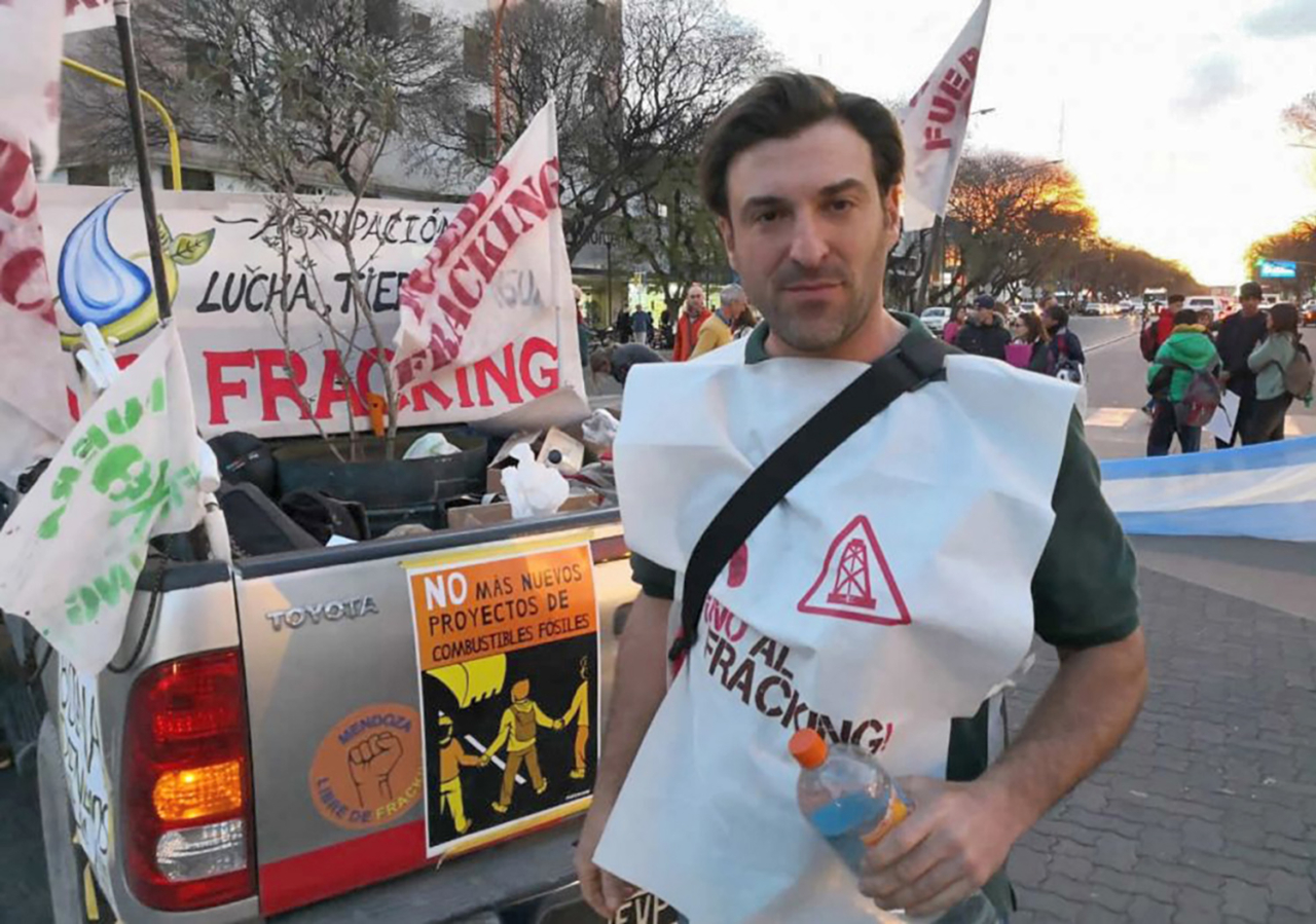 Esteban Servat, 33-year-old Argentine-American biologist, is on a mission to make censored government materials involving environmental damage and crimes around the world available to the public. First stop: Mendoza. Photo: via EcoLeaks