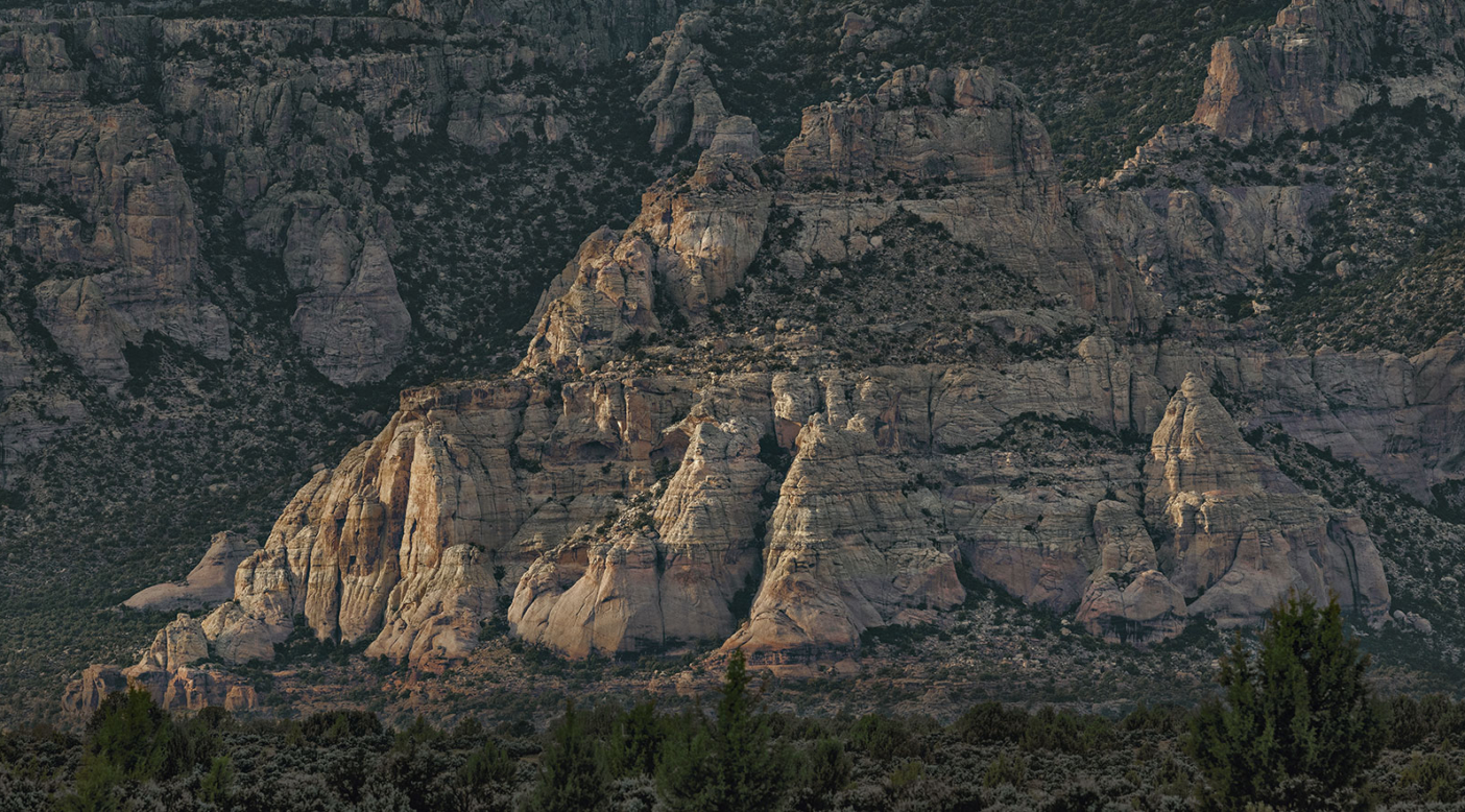 Sandstone features on the northern border of the Diné reservation. Photo: Ace Kvale