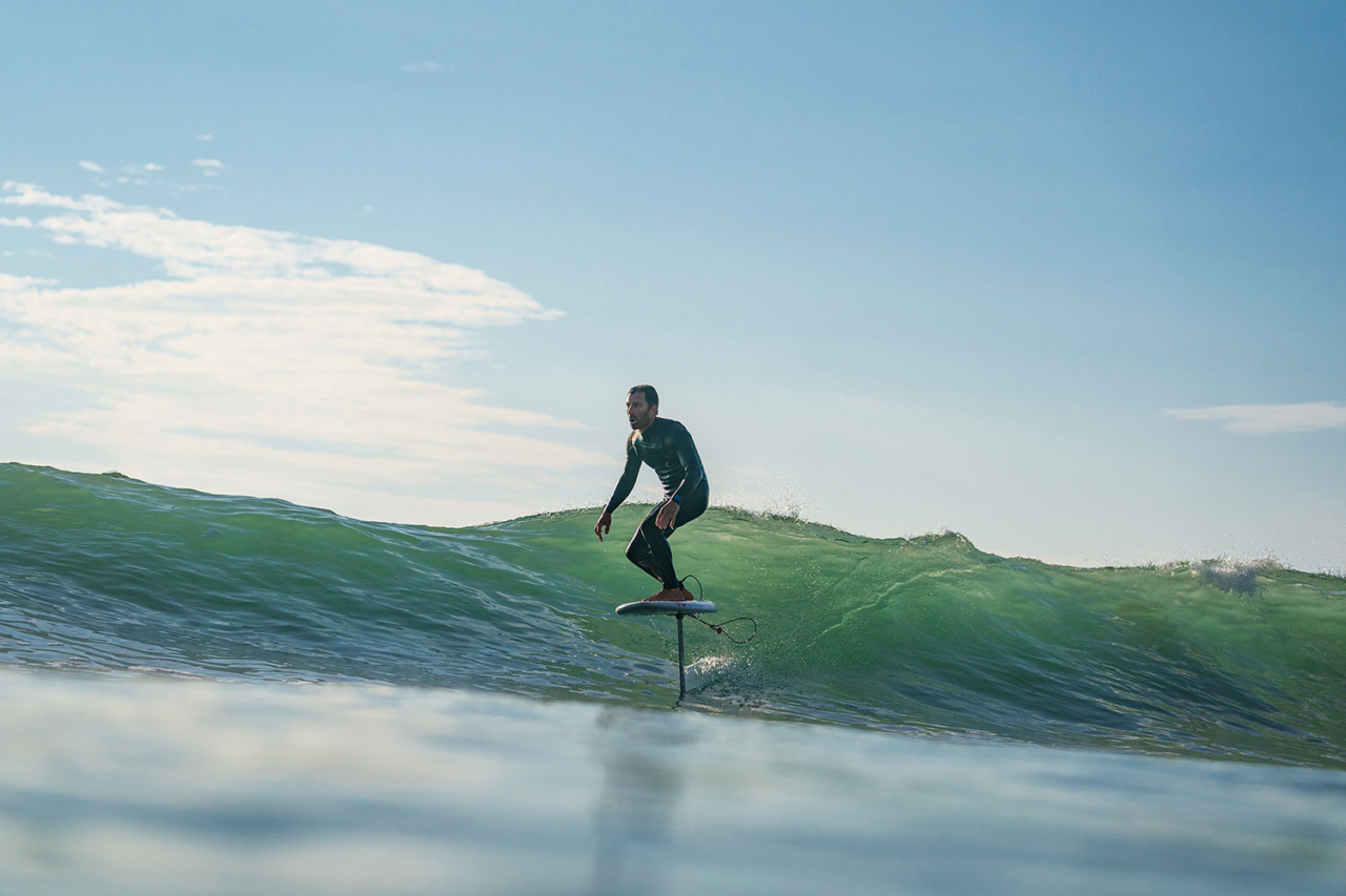 Shape it, then surf it: Fletcher Chouinard collects real-time design data a few minutes from his shaping bay in Ventura County, California. Photo: Scott Soens