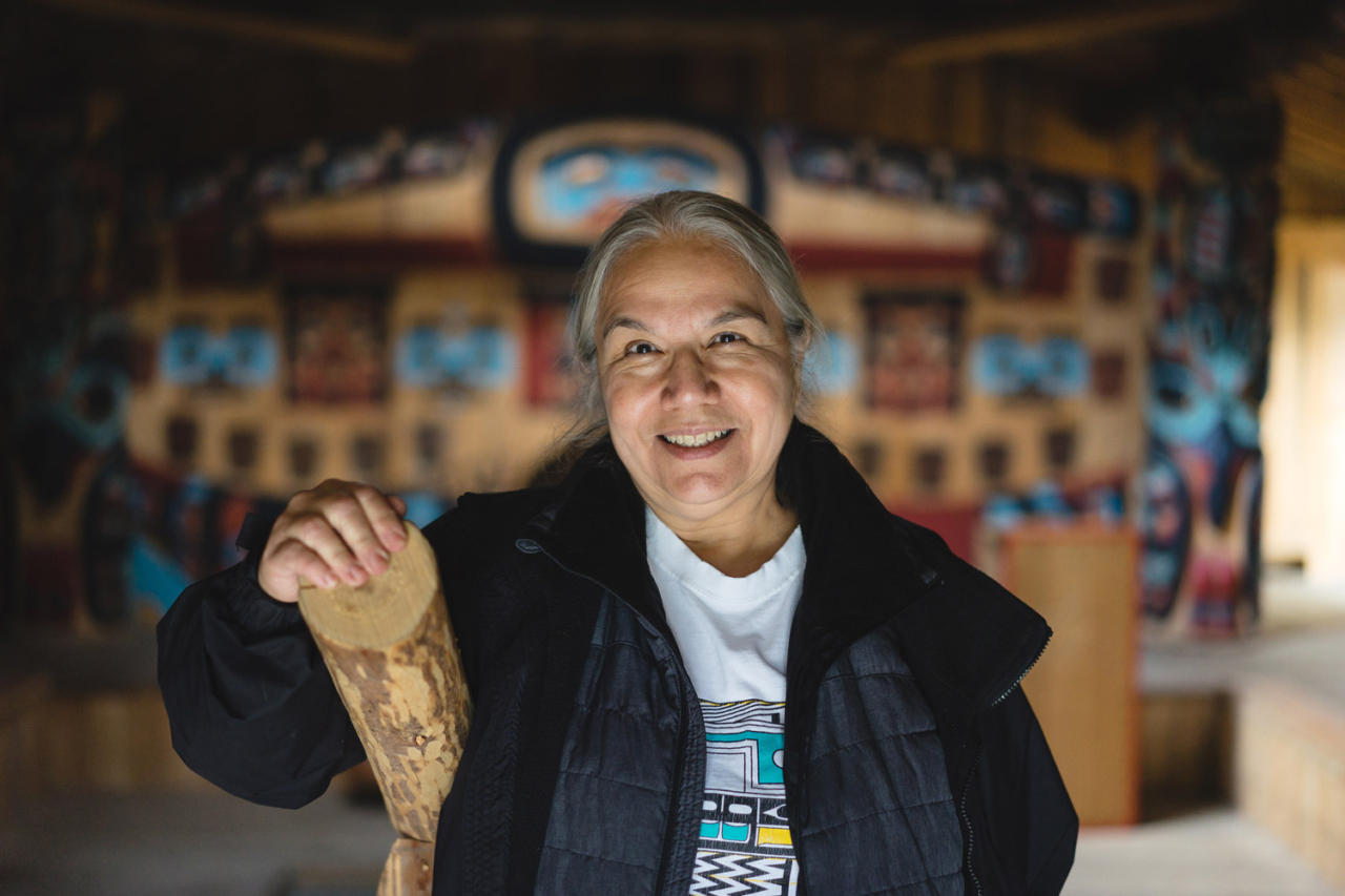 Lani Hotch, a member of the Chilkat Indian Village, lives in Klukwan and was the executive director of the Jilkaat Kwaan Heritage Center.  Photo: Adam Saraceno