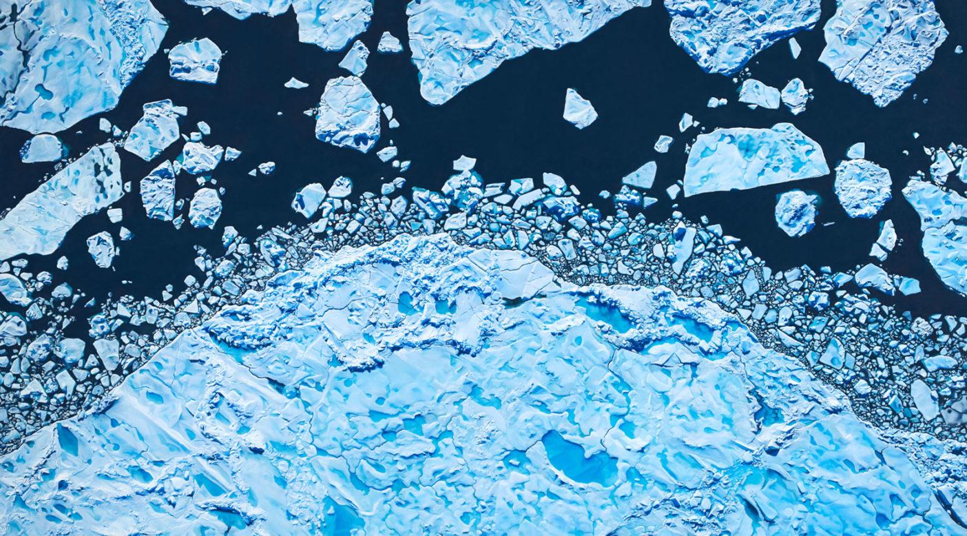Zaria Forman Lincoln Sea, Greenland, 82° 32' 30.3036