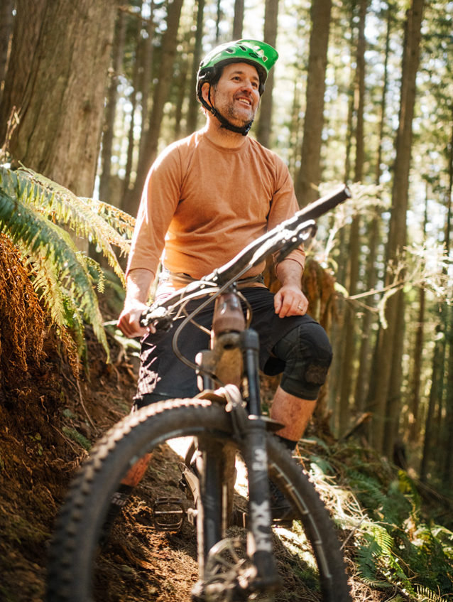 Eric Brown, the unofficial Mayor of Bellingham Mountain Biking. Photo: Paris Gore