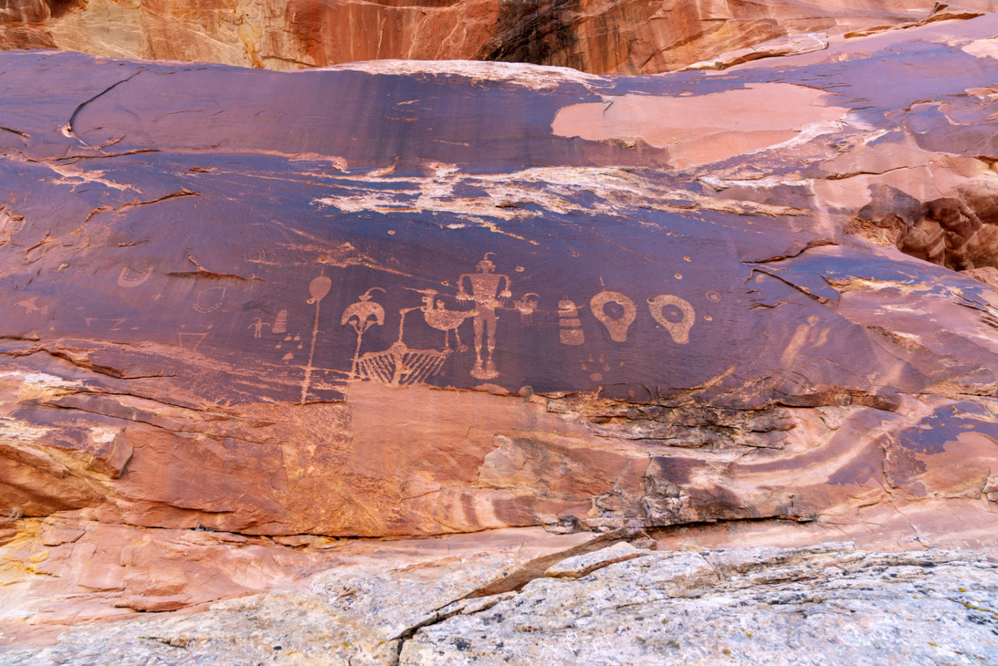A sacred panel that has been marred by bullet holes. There are more than 100,000 cultural sites in Bears Ears. The region was recently named one of the most endangered cultural heritage sites in the world. Photo: Michael Estrada