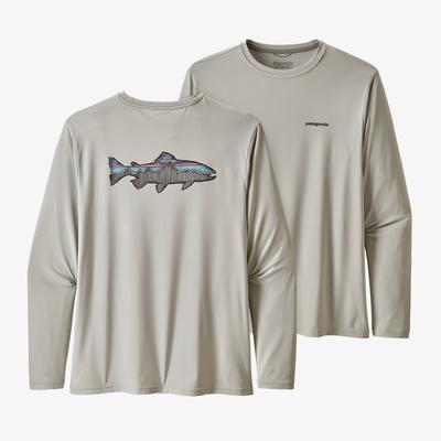 Long-Sleeved Capilene(R) Cool Daily Fish Graphic Shirt - Men