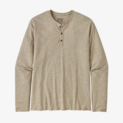 Long-Sleeved Organic Cotton Lightweight Henley Pullover - Men