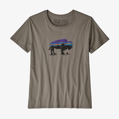 Fitz Roy Bison Organic Crew T-Shirt - Women