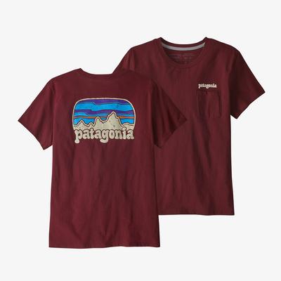 Fitz Roy Far Out Organic Crew Pocket T-Shirt - Women