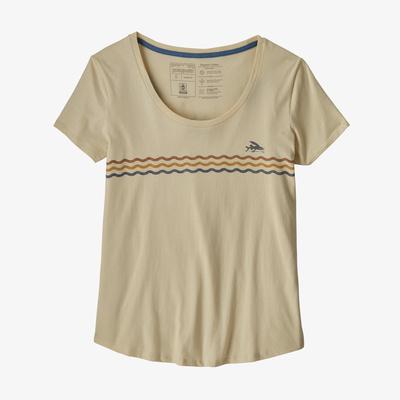 Flying Fish Line Up Organic Scoop T-Shirt - Women