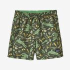 Baby Baggies™ Shorts, Alligators and Bullfrogs: Kale Green (ABKG)