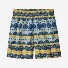 "Boys' Baggies™ Shorts - 5"" - Woodblock Circles: Big Sky Blue (WOBY)"