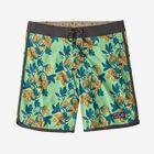 "M's Scallop Hem Stretch Wavefarer® Boardshorts - 18"", Squash Blossoms: Bud Green (SBBG)"