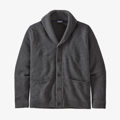 Recycled Wool Shawl-Collar Cardigan - Men