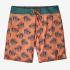 "M's Stretch Planing Boardshorts - 19"", Palms of My Heart: Peach Sherbet (PHPS)"