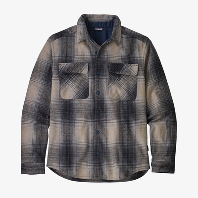 Long-Sleeved Recycled Wool Shirt - Men
