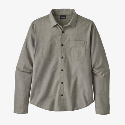 Long-Sleeved Organic Cotton Slub Poplin Shirt - Men
