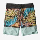 "M's Stretch Planing Boardshorts - 19"", Jurassic Ferns Stripe: Atoll Blue (JFAB)"