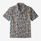M's Stretch Planing Hybrid Shirt, Hevea Leaves: Superior Blue (HLSB)