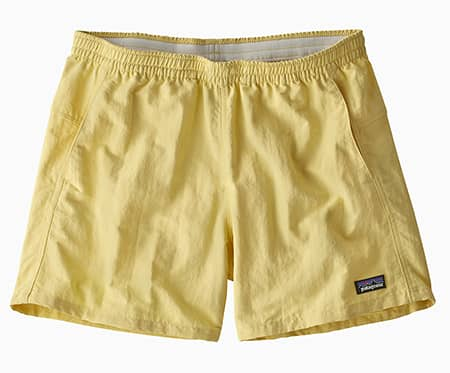 Pale yellow Patagonia Baggies