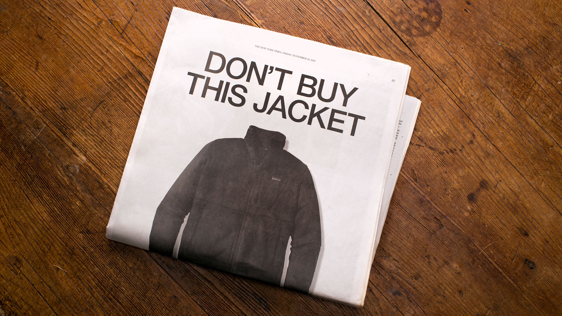 Patagonia Black Friday Ad: Don't Buy This Jacket